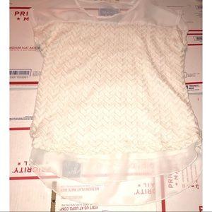 Brittney Black-sheer blouse